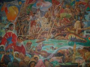 "Fluvial Parade by Carlos ""Botong"" Francisco, National Artist and the Philippines' Greatest Muralist"