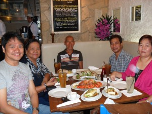 Celebrating my Birthday with Dad, Mom, Pastor Jun and Sis Janet