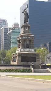 Monument to Cuauhtemoc, possibly the first Mexican hero