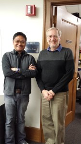 With Professor Chuck Kinzer of Columbia