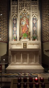 Altar in St. Malachy's Chapel dedicated to the Sacred Heart of Jesus