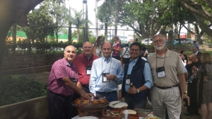 De La Salle Brothers (IALU Forum 2013): Br. Armand, Br. Larry, Br. Alvimar, with Raymund and Roger