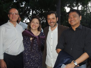 IALU Forum 2010 (Rome) Alumni: Br. Alfonso, Rebecca, Lluis, and Raymund