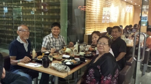 Birthday lunch with Dad, Mom, Pastor Jun, and Sister Janet at my favorite Japanese resto (Feb)