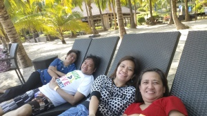 With Divine, Gwen, and Bing at Camaya Cove (April)