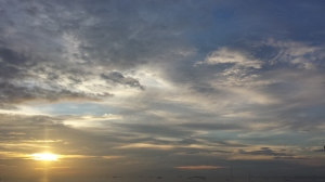 View of the sky from my balcony, December 31, 2014