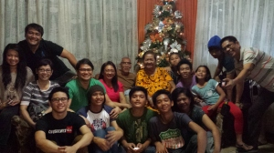 And with the extended family (cousins and their children, December)