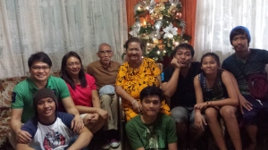 Christmas with the family (December)
