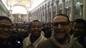 With Br. Diego and Murphy at a concert of the Vienna Philharmonic at St. Paul's