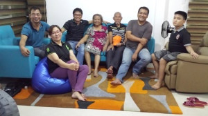 With Dad, Mom, Penan, Ptr Jun, Sis Janet, and K2