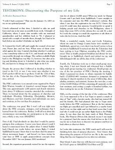 TSW - Newsletter - Vol 4 Iss 2-3 My Testimony